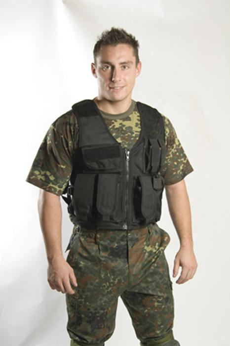 Kampvest,Tactical , sort (RECON), one size
