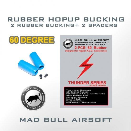 2 stk Mad Bull Hop-up gummi blå, shark bucking 60 degree