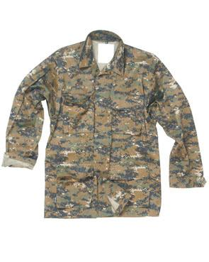 US Feltjakke Type BDU Digital Woodland, XL