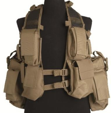 Indsatsvest TACTICAL (12 TA.) Coyote