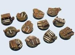 Trench Bases round 25mm (5)