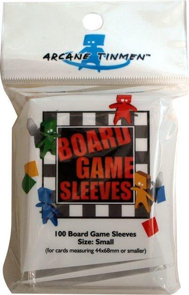 Board Game Sleeves - Clear - Small (Rød - 44x68mm)