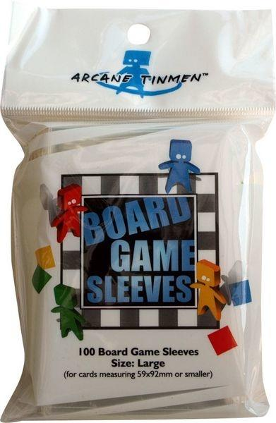 Board Game Sleeves - Clear - Large (Blå - 59x92mm)