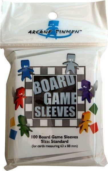 Board Game Sleeves - Clear - Standard (Grå - 63x88mm)