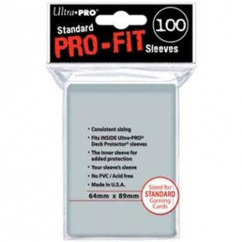 UP - Inner Sleeves - Pro-Fit Card Clear (100 Sleeves)