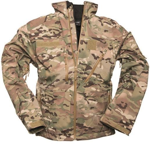 Jakke, softshell, Multicam, XL