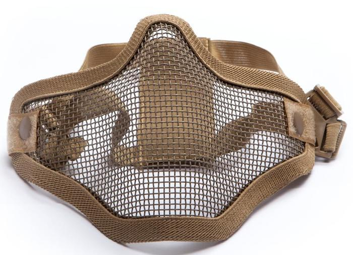 Metal mesh mask, Tan
