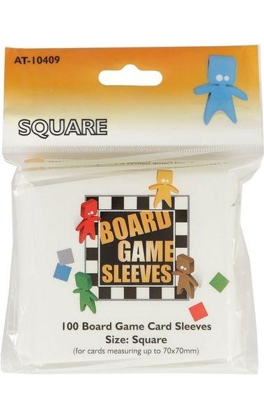 Board Games Sleeves - Square (70x70mm) - 100 Pcs