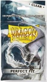 Dragon Shield Standard Perfect Fit Sleeves - Clear/Clear 100 stk