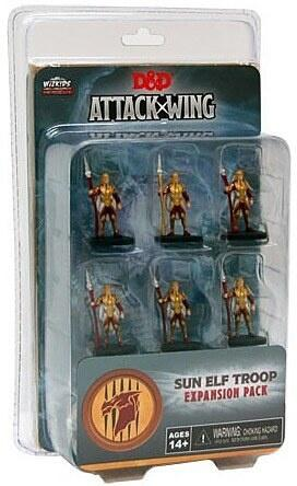 Denne pakke Sun Elf troops til D&D Attack wing kommer med 6 miniatures