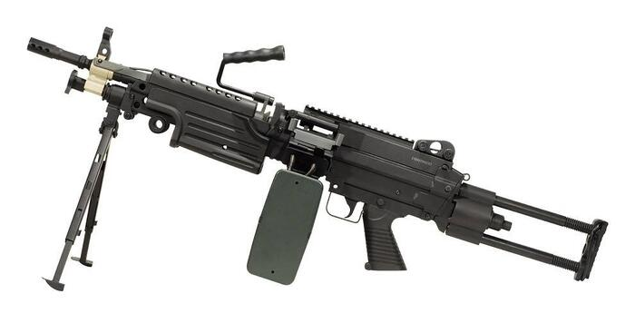 Vildt fed Light Machine Gun (LMG) FN M249 PARA kommer med AMMOBOX magasin