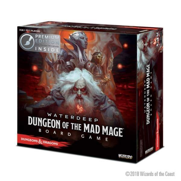 D&D Waterdeep: Dungeon of the Mad Mage Adventure System Board Game Premium Edition kommer med pre malet figurer