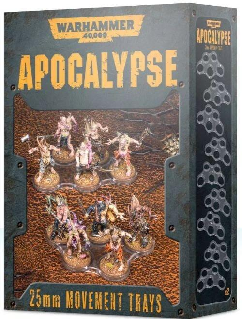 25mm movement trays til Warhammer 40.000: Apocalypse