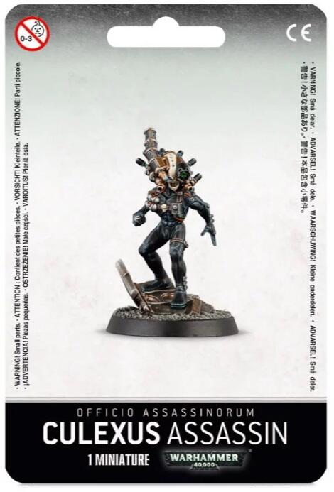 Officio Assassinorum agent fra Culexus Temple der speciliserer i kamp mod psykers