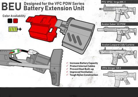 VFC Avalon PDW Series - BEU Battery Extension Unit Red