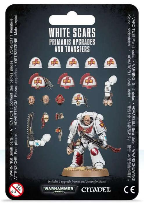 Warhammer 40K White Scars Primaris Upgrades & Transfers