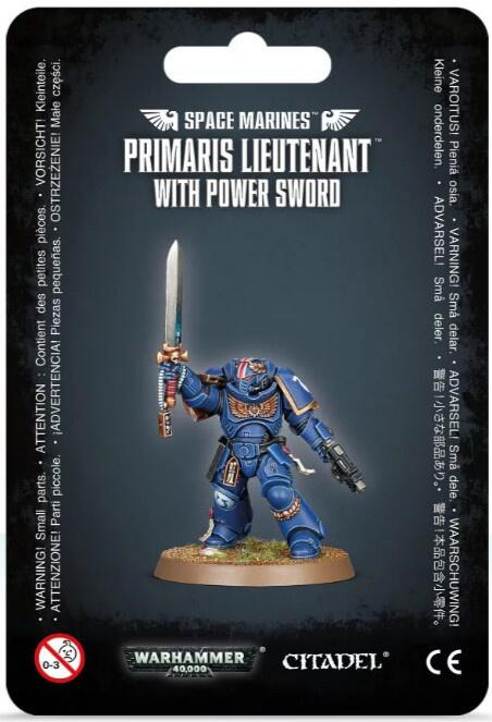 Primaris Lieutenant med Power Sword til Space Marines hære