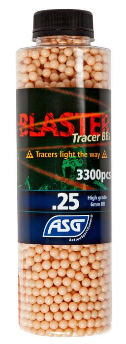 Blaster Tracer 0,25g Airsoft BB in Red color-3300 pcs. in bottle