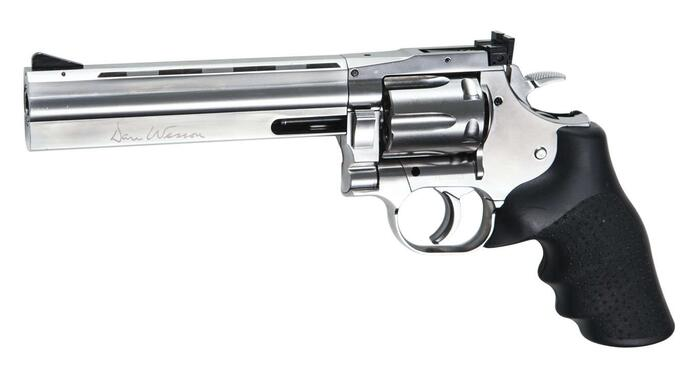 "Dan Wesson 715 - 6""Revolver, Silver, Low Power"