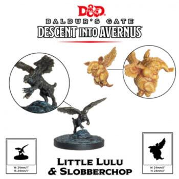 D&D Descent into Avernus - Lulu and Slobberchops er umalet figurer