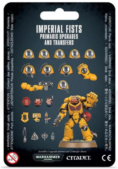 Imperial Fists Primaris Upgrades and Transfers - Opgraderinger og markeringer til dette og Crimson Fists