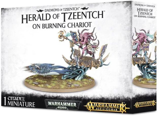 Herald of Tzeentch on Burning Chariot - Kan også samles som en Burning Chariot of Tzeentch