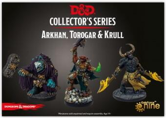 "D&D Descent into Avernus - Arkhan, Torogar & Krull - Denne pakke indeholder ""The Dark Order"""