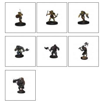 D&D Icons of the Realms - Monster Pack: Village Raiders: 7 prepainted figurer