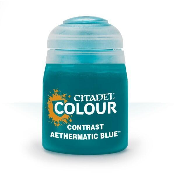 Citadel Colour Contrast Paint Aethermatic Blue 18 ml til Warhammer