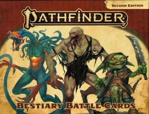 Pathfinder - Bestiary Battle Cards - Hurtig reference og illustration af over 450 monstre