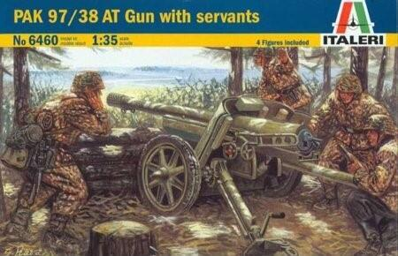PAK 97/38 AT Gun with servants 1/35 model byggesæt