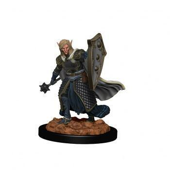 D&D Icons of the Realms Premium Figures: Elf Male Cleric - malet figur til at komme på bordet straks i dit rollespil