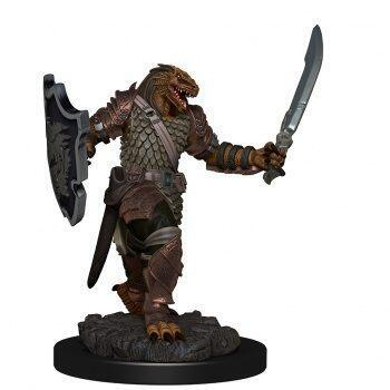 D&D Icons of the Realms Premium Figures: Dragonborn Female Paladin - malet figur til at komme på bordet straks i dit rollespil