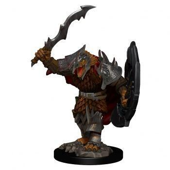 D&D Icons of the Realms Premium Figures: Dragonborn Male Fighter - malet figur til at komme på bordet straks i dit rollespil