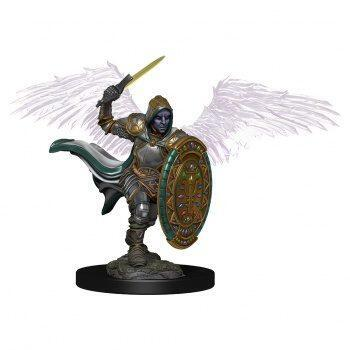 D&D Icons of the Realms Premium Figures: Aasimar Male Paladin - malet figur til at komme på bordet straks i dit rollespil