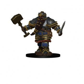 D&D Icons of the Realms Premium Figures: Dwarf Male Fighter - malet figur til at komme på bordet straks i dit rollespil