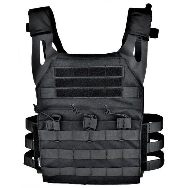 Taktisk Airsoft JPC plate carrier vest i sort