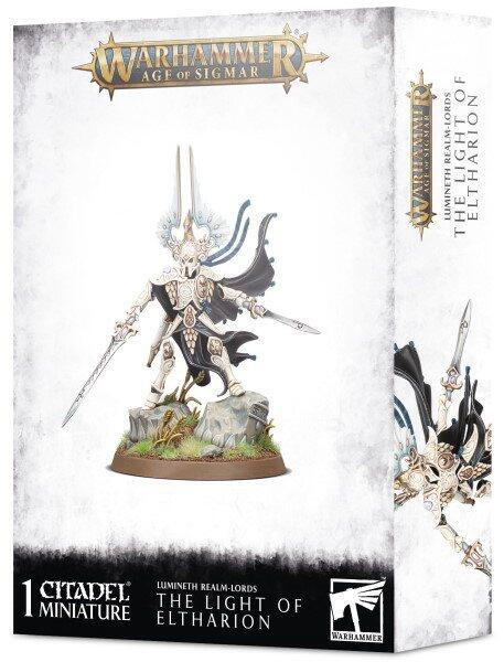 The Light of Eltharion er en stærk nærkamps helt for Lumineth Realm-lords i Warhammer Age of Sigmar