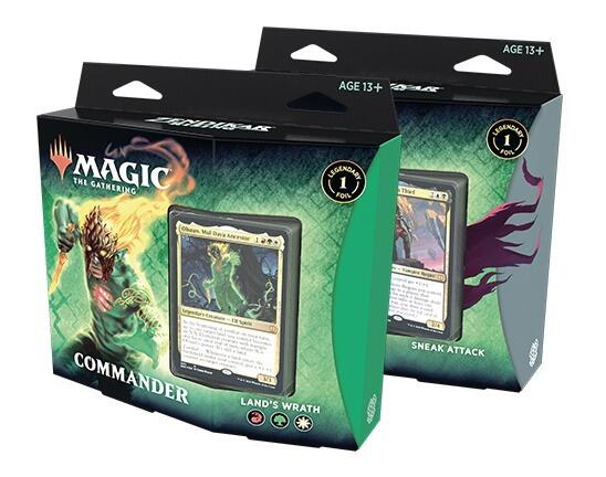 Zendikar Rising Commander Deck er en serie på to forskellige dæks, Land's Wrath og Sneak Attack