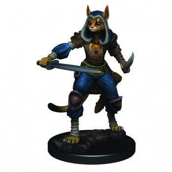 Spil som en fleksibel Tabaxi rogue med denne Icons of the Realms miniature til D&D bordrollespillet
