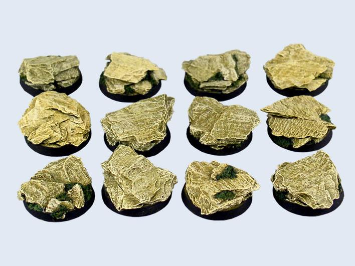 Shale Bases Round 25mm (5)