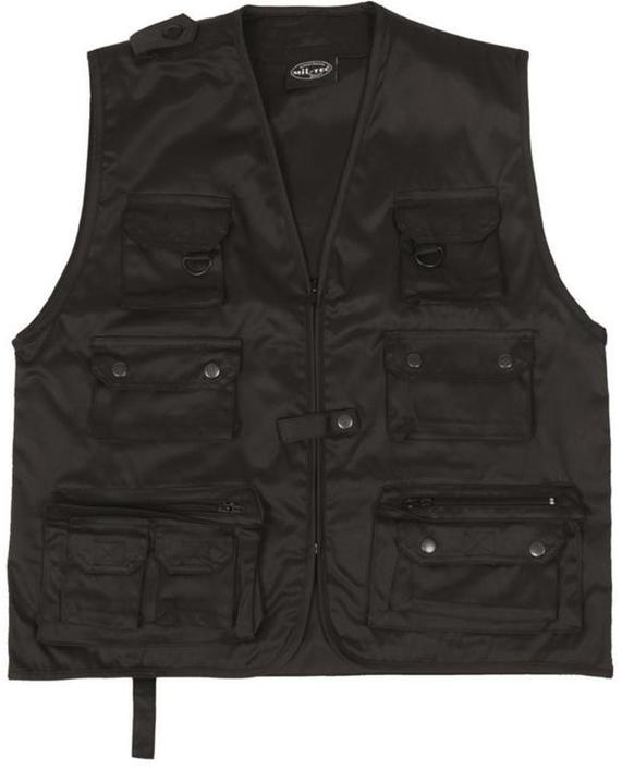 Jagt-vest Sort Medium