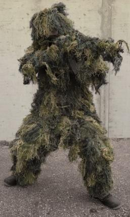 SNIPER GHILLIE SUIT 'ANTI FIRE' 4PC.WOOD.M/L