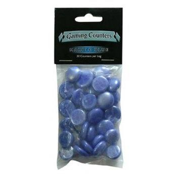 Gaming Counters - Marble Blue