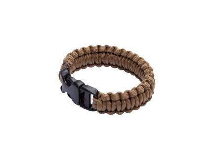 Paracord Survival Bracelet, Coyote Brown