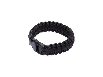 Paracord Survival Bracelet, Black