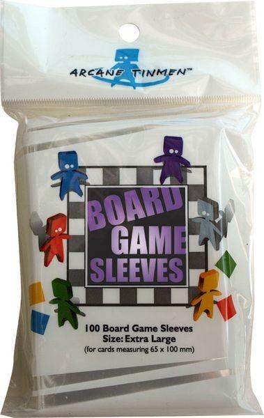 Board Game Sleeves - Clear - Extra Large (Lilla - 65x100mm)