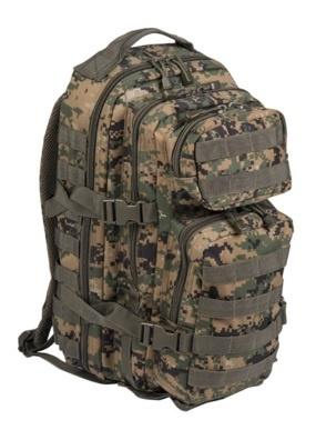 US ASSAULT PACK SM DIGITAL WOODLAND
