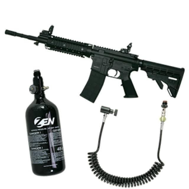 Tippmann M4 med blowback og luft kit