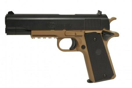 Softgun, Colt 1911 Tan/Sort